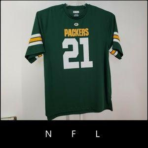 NFL Men Short Sleeve Green Bay Packers Jersey 2XL